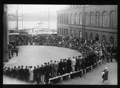 Panoramafotografi med cirkut-kamera, Stockholm.