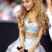 Ariana Grande in clear vinyl skirt