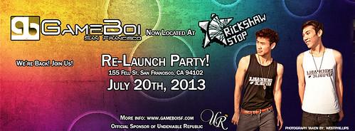 GameBoi Relaunch Party Flyer - Facebook Banner