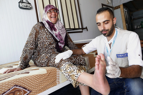 """Physiotherapy sessions give me strength"" – Ebtesam, 55 – Zaatari refugee camp, Jordan"