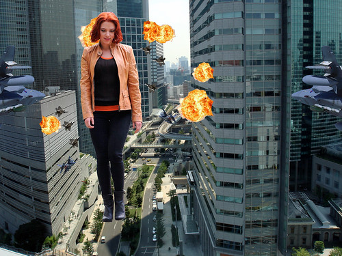 GIANTESS BLACK WIDOW GOES ON A RAMPAGE THROUGH TOKYO