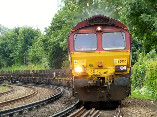 66056 Dollands Moor to Scunthorpe 4E26 empty steel