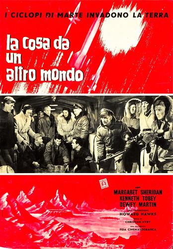 The Thing from Another World (Fida Cinematographia, R-1961). Italian Photobustas (18.5