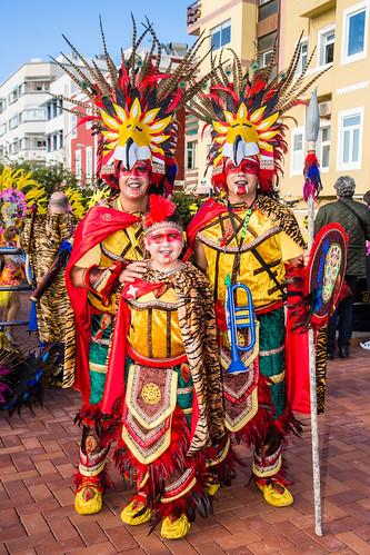 2017-02-25 Carnaval al Sol, Las Palmas (11) - Murga Los Chancletas - Karnevalsumzug auf der Strandpromenade von Las Canteras in Las Palmas de Gran Canaria