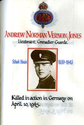Jones, Andrew Norman Vernon (1925-1945)