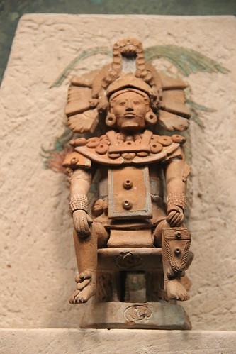 Classic Maya Clay Figurine of Halach Uinic (Ruler), Jaina, Campeche, 22cm