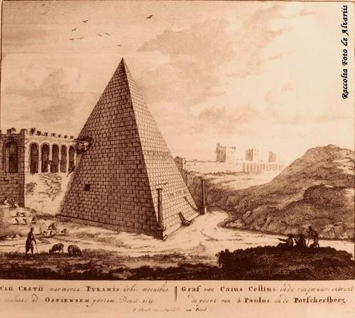 1700 ca 2005 Veduta Piramide Cestia a, di Peter Schenck b