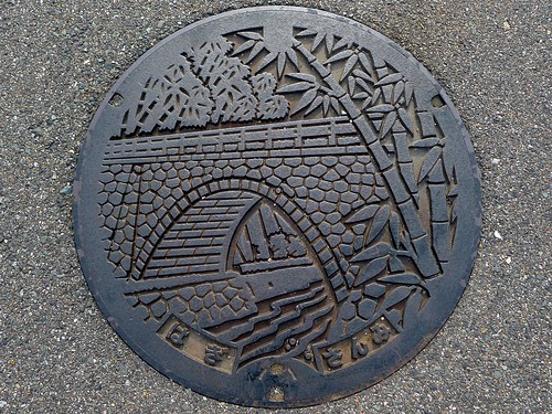 Sanmi, Hagi Yamaguchi , manhole cover (山口県萩市三見のマンホール)