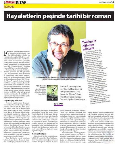 Milliyet Kitap yazarı Özge Kara, yeni kitabımız 'Gök Cennetin Altında'yı yazdı.  #kitap #GökCennetinAltında #UnderHeaven #guygavrielkay #fantastik #tarih #edebiyat #pegasusyayınları