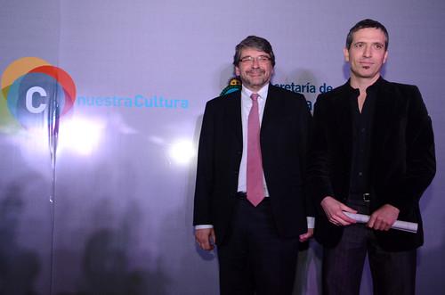 Adamovsky y Hamawi en los premios Nacionales