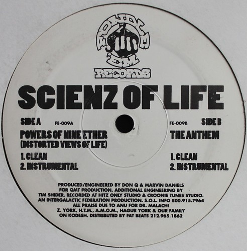 Scienz of Life - Powers of nine ether