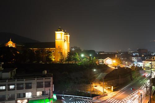 長崎カトリックセンターから見た浦上天主堂