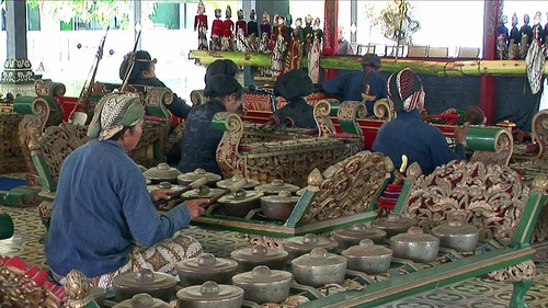 Indonesia - Java - Yogyakarta - Kraton - Museum - Gamelan Musicians - 4