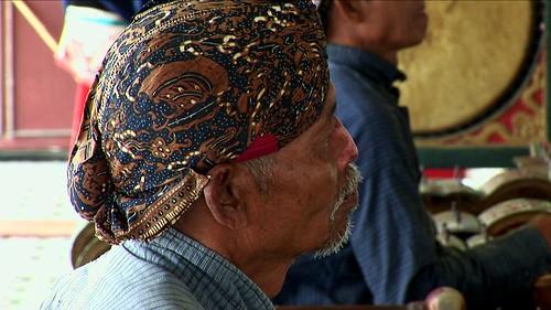 Indonesia - Java - Yogyakarta - Kraton - Museum - Gamelan Musician - 2