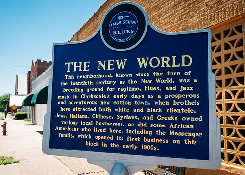 New World Marker, view01, Martin Luther King Blvd, Clarksdale, MS, USA