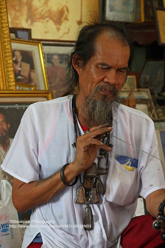 Ayutthaya, Ajaan Kob, at work