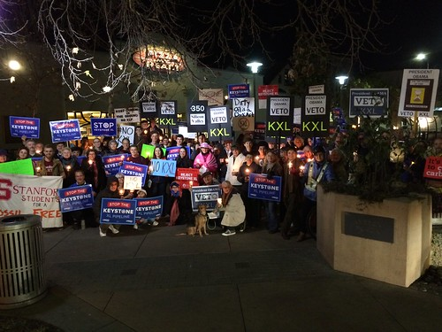 Final photo from 350 Silicon Valley #RejectKXL Vigil in Palo Alto, CA