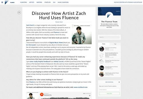 Zach Hurd - Fluence - Photo By Doug Seymour