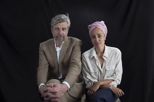 Karl Ove Knausgaard with Zadie Smith