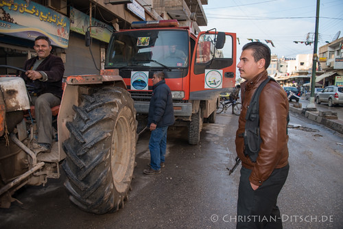 Syrien | Rojava | Qamishli | Feuerwehr
