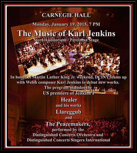Premik Russell Tubbs | The Music of Karl Jenkins | Carnegie Hall | Monday, January 19, 2015 | 7 PM