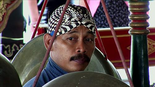 Indonesia - Java - Yogyakarta - Kraton - Museum - Gamelan Musician - 1