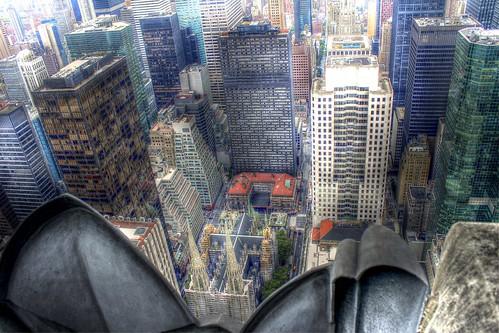 Auf dem Dach des Rockefeller Centers -On the roof of Rockefeller Center