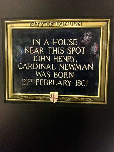 Blessed Cardinal John Henry Newman was born here