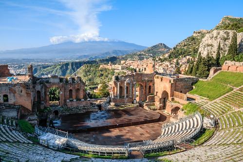 Teatro greco in Taormina, Sicily , Italy