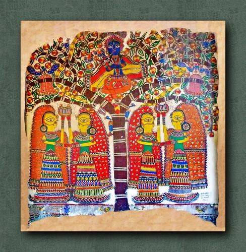 India - Delhi - National Crafts Museum - Madhubani Painting - 1