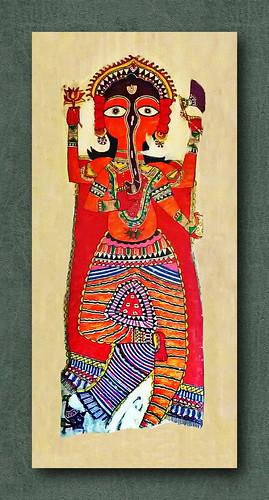 India - Delhi - National Crafts Museum - Madhubani Painting - 7
