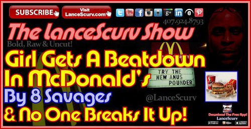 8 Hoodrat Savages Beatdown 1 Girl In A Brooklyn McDonald's And No One Breaks It Up!