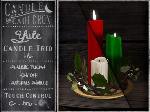 C&C Yule Candle Trio