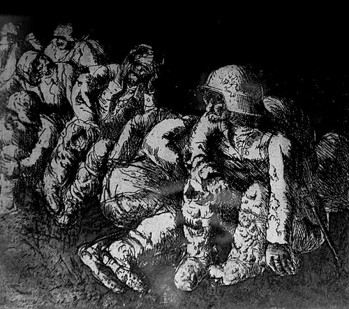 Otto Dix  Drawings -  The Trench - DSC03717.JPG