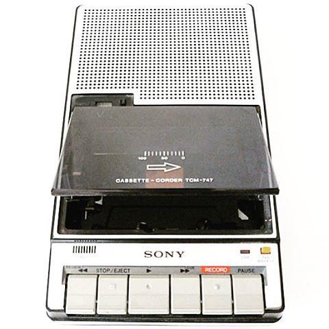 Con esta grabadora Sony hice mis...
