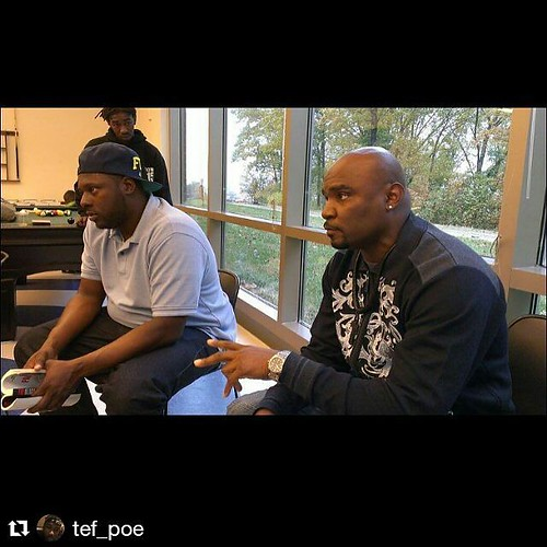 #Repost @tef_poe with @repostapp ・・・ #Vonderitt and Tory spearheaded today's convo .. @handsupunited #booksandbreakfast at the Northside YMCA this man lost his son to a cowardly #police officers gun but he and his #wife are #soldiers.