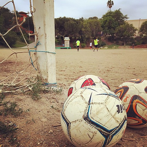La Mara Salvatrucha dominated pick-up games here back in the day... Good to be back sliding on this dusty and rocky terrain.