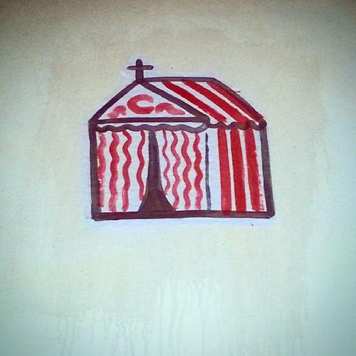 Iglesia de San rebujito bendito, dónde se bendice la manzanilla y se comulga con picos, donde los sermones son por sevillanas y dónde la penitencia se cumple el lunes... de  resaca   Sevilla street art en estado puro!  #sevilla #seville #sevillahoy #sevil