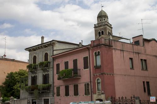 Santa Maria in Organo  view Piazza Isolo