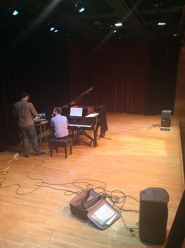 Keith Kirchoff and Ashkan Behzadi rehearsal