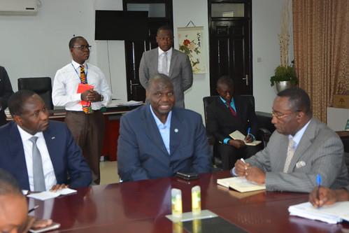 16-17 mars 2017, Accra – Mamadou Sangafowa Coulibaly, Ministre de l'agriculture et du développement rural de la République de Côte d'Ivoire, a effectué une visite officielle au Bureau régional de la FAO pour l'Afrique et au Ghana.