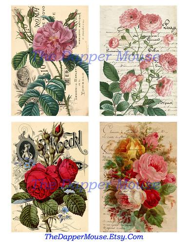 Flowers Collage Sheet 1 Watermark