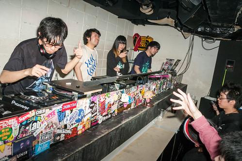 DJ Oblongar and 4sk : Uncone 5: 5 May 2015 at MOGRA, Akihabara.