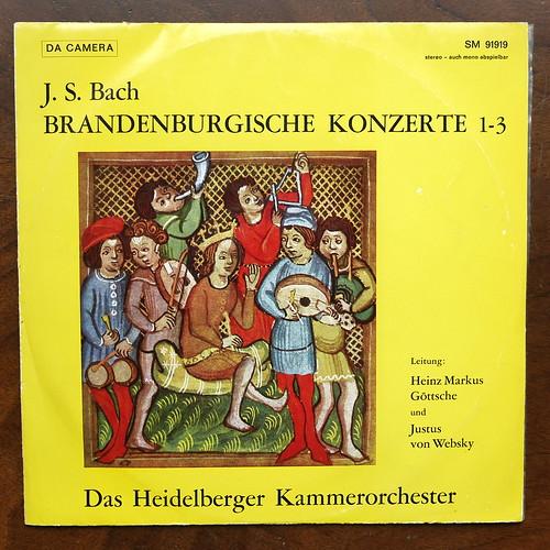 Bach - Brandenburg Concertos No.1-3 - Heidelberger Kammer Orch., Heinz Markus Gottsche, Justus von Websky, Sastruphon Da Camera SM 91919