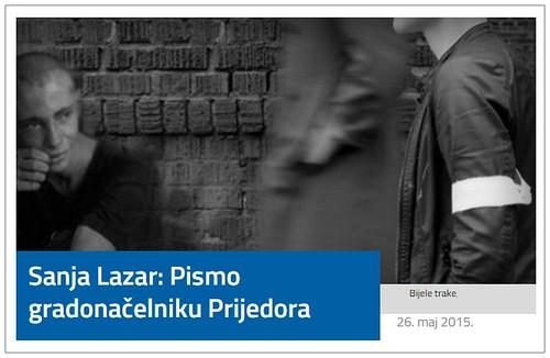 Sanja Lazar: Pismo gradonačelniku Prijedora