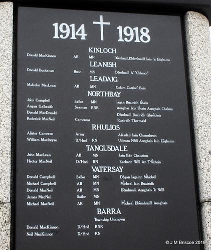Barra War Memorial, Castlebay
