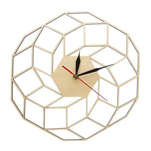 Dreamcatcher Wooden Wall Clock Home Kitchen Decor Wall Art Modern High Quality Handmade Geometric Silent Movement Clock Watch