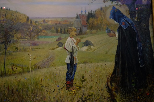 XE3F4847 - The Vision to the Youth Bartholomew (1889-1890), by Mijaíl Nésterov