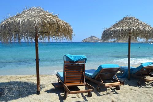 La spiaggia di Kalafati (Mykonos)