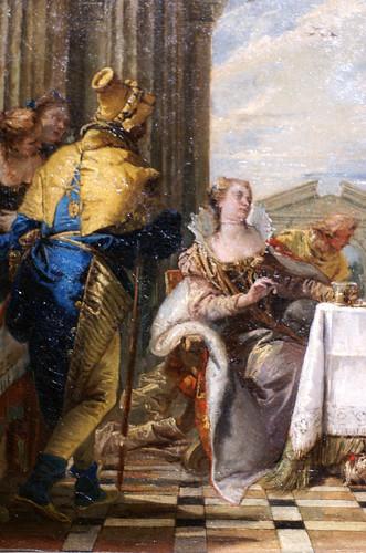 Giovanni Battista Tiepolo, Das Gastmahl der Kleopatra - The Banquet of Cleopatra - Il Banchetto di Cleopatra - Detail